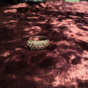 Clear faux diamond ring 2/$14 Sale